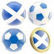 Stock Photo: Scotland football team attributes isolated
