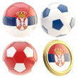 Serbia football team attributes isolated — Stock Photo