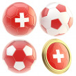 Stock Photo: Switzerland football team attributes isolated