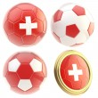 Switzerland football team attributes isolated — Stock Photo