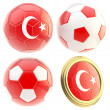 Stock Photo: Turkey football team attributes isolated