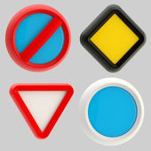 Glossy road sign templates isolated — Stock Photo