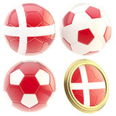 Denmark football team attributes isolated — Stock Photo