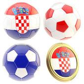 Croatia football team attributes isolated — Stock Photo