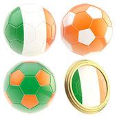 Ireland football team attributes isolated — Foto de Stock