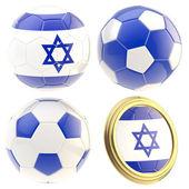 Israel football team attributes isolated — Stock Photo