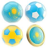 Kazakhstan football team attributes isolated — Stock Photo