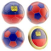 Lihtenştayn futbol takımı öznitelikleri izole — Stok fotoğraf