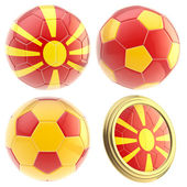 FYROM football team attributes isolated — Stock Photo
