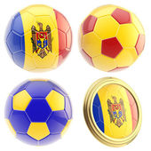 Moldova football team attributes isolated — Stock Photo