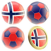 Norwegen fussball team attribute isoliert — Stockfoto