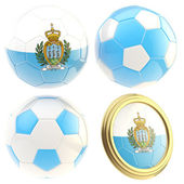 San Marino football team attributes isolated — Foto Stock