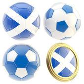 Scotland football team attributes isolated — Stock Photo