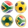 South Africa football team attributes isolated — Stock Photo