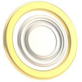 Runde copyspase kreisförmige platte isoliert — Stockfoto
