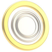 Round copyspase circular plate isolated — Stock Photo