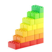 Energy efficiency steps made of bricks — Stock Photo