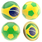 Brazil football team attributes isolated — Stock Photo