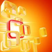 Licht rood oranje copyspace abstracte achtergrond — Stockfoto
