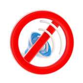 No music or sound mute sign isolated — Stock Photo