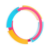Colorful techno style circle border frame — Stock Photo