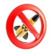 Nuclear power and radiation forbidden — Stock Photo
