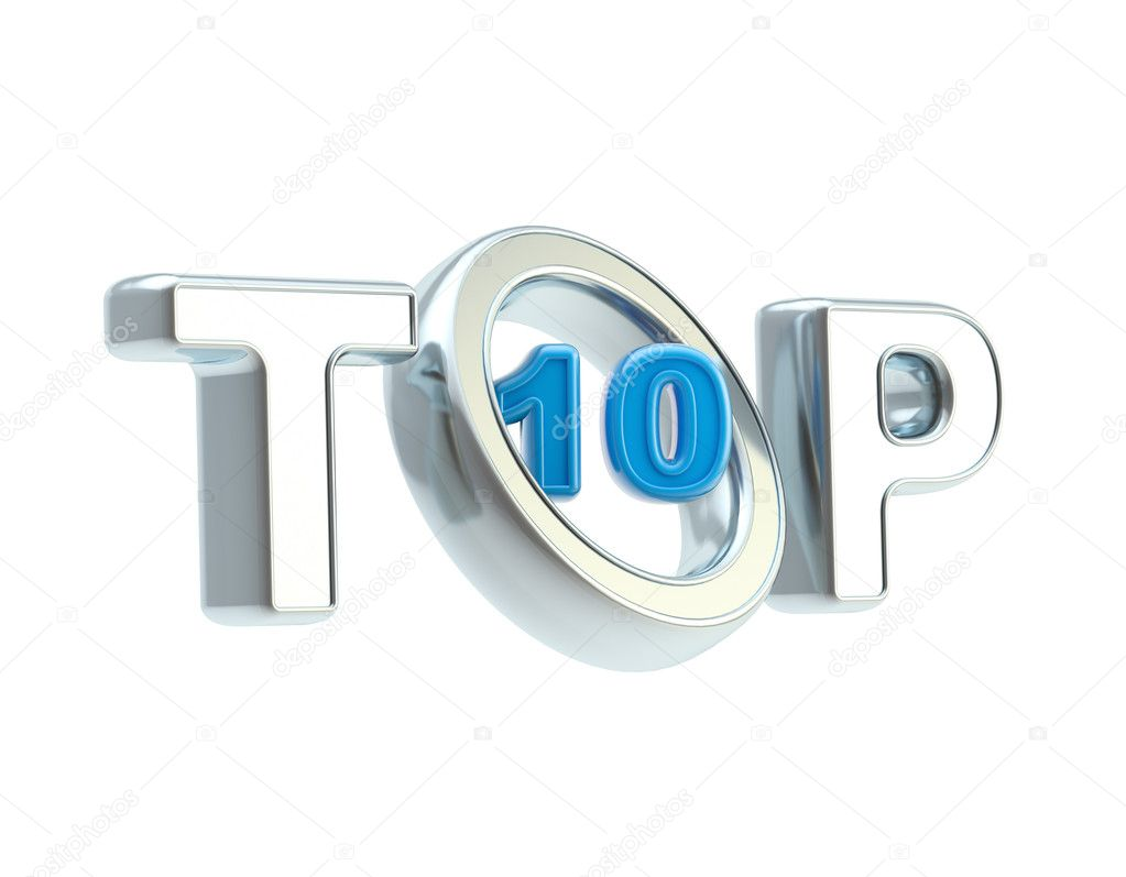 Top ten emblem symbol isolated on white — Stock Photo #10272121
