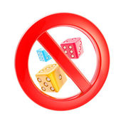 Gambling is not allowed forbidden sign — Stock Photo