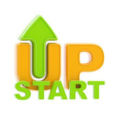 Startup up arrow symbol isolated — Stock Photo