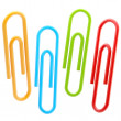 Royalty-Free Stock Photo: Set of four colorful  paper clips isolated