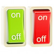 On and off switch tumblers isolated — Stock Photo