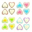 Royalty-Free Stock Photo: Set of colorful glossy plastic hearts isolated