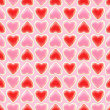 Royalty-Free Stock Photo: Seamless background texture made of love hearts