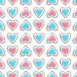 Seamless background texture made of love hearts — Foto Stock