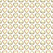 Seamless background texture made of love hearts — Stok fotoğraf