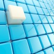 Abstract background made of glossy cubes — Stock Photo #8904651