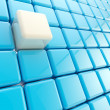 Stock Photo: Abstract background made of glossy cubes