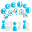 Stock Photo: Social media blue glossy emblem