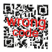 Wrong QR code broken into pieces isolated — Stock Photo