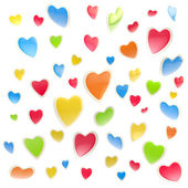 Background made of colorful hearts isolated — 图库照片