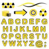 エンブレム セットあなたのロゴの abc のアルファベットを作る — ストック写真