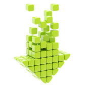 Download icon made of glossy cubes — Stock Photo