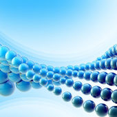Blue abstract light background made of spheres — Stock Photo