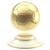 Golden soccer ball champion goblet — Stock Photo
