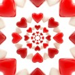 Abstract background made of glossy hearts — Stock Photo #8931429