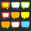 Set of nine blank colorful glossy text bubbles — Stock Photo