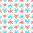 Seamless background texture made of love hearts — Stock Photo #8931835