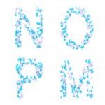Valentine day love alphabet made of hearts — Stock Photo