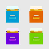 Information and documents: drawers isolated — Stock Photo