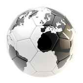 Football ball as an Earth planet sphere isolated — Stock Photo